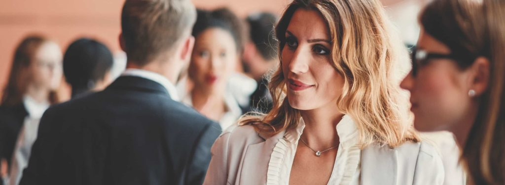 Woman in a business professional setting