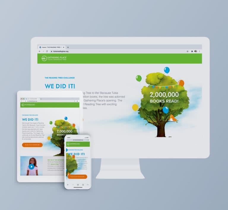 The Reading Tree Website Mockup