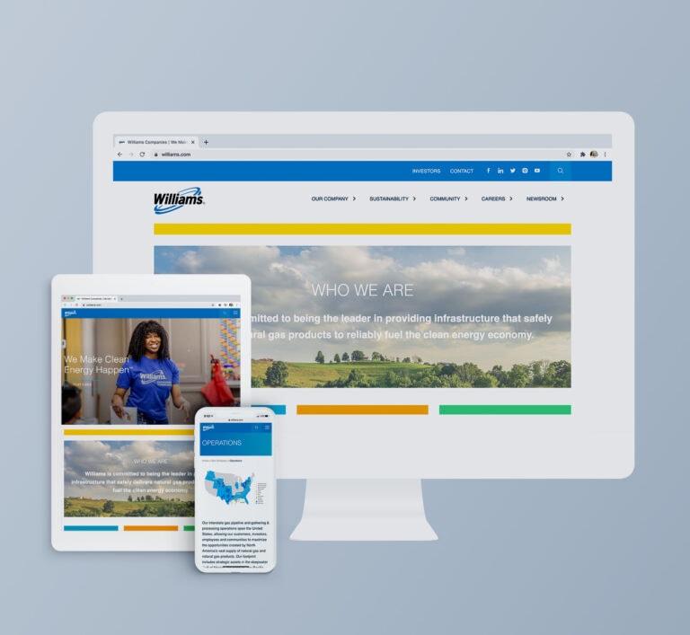 Williams Website Mockup